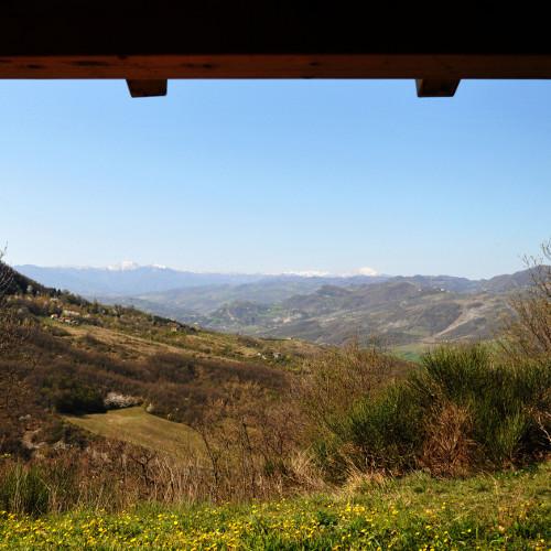 Panorama dai Fienili del Campiaro di Grizzana Morandi