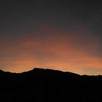 Tramonto sulla valle di Rio Maggiore - Porretta Terme