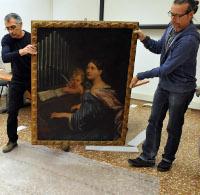 """La preparazione delle opere per la mostra """"L'eredità dei Bastardini"""""""