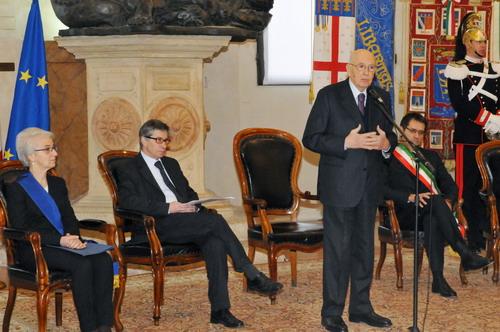 31/01/2012 - Incontro a palazzo d'Accursio tra il Presidente e i rappresentanti di Regione, Provincia e Comune di Bologna