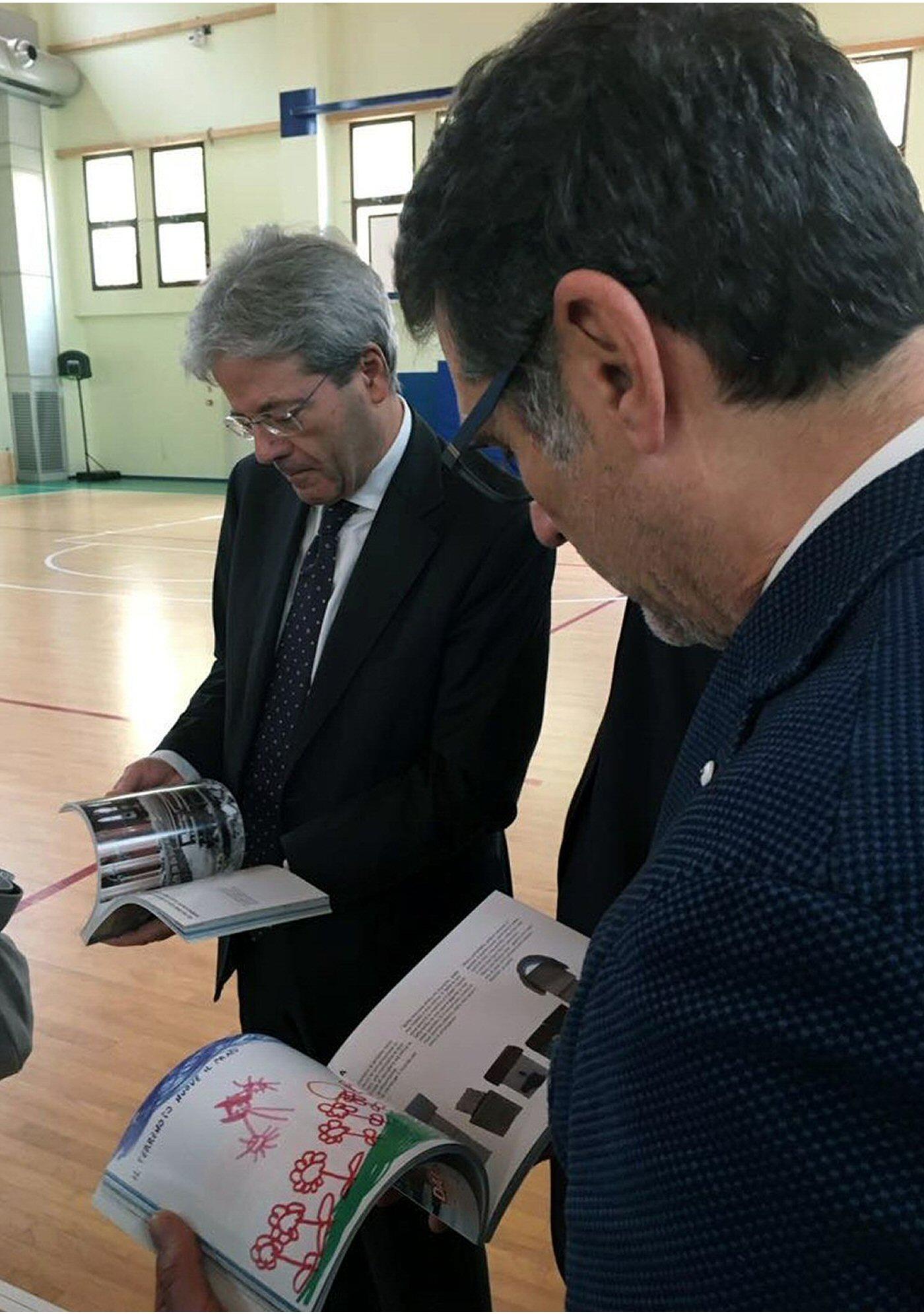 La visita del premier Paolo Gentiloni a Crevalcore