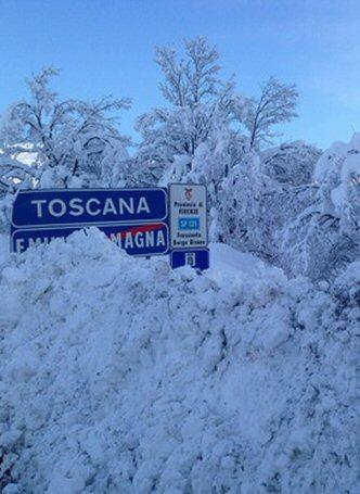 Nevicata in Appennino dal 5 al 7 febbraio 2015