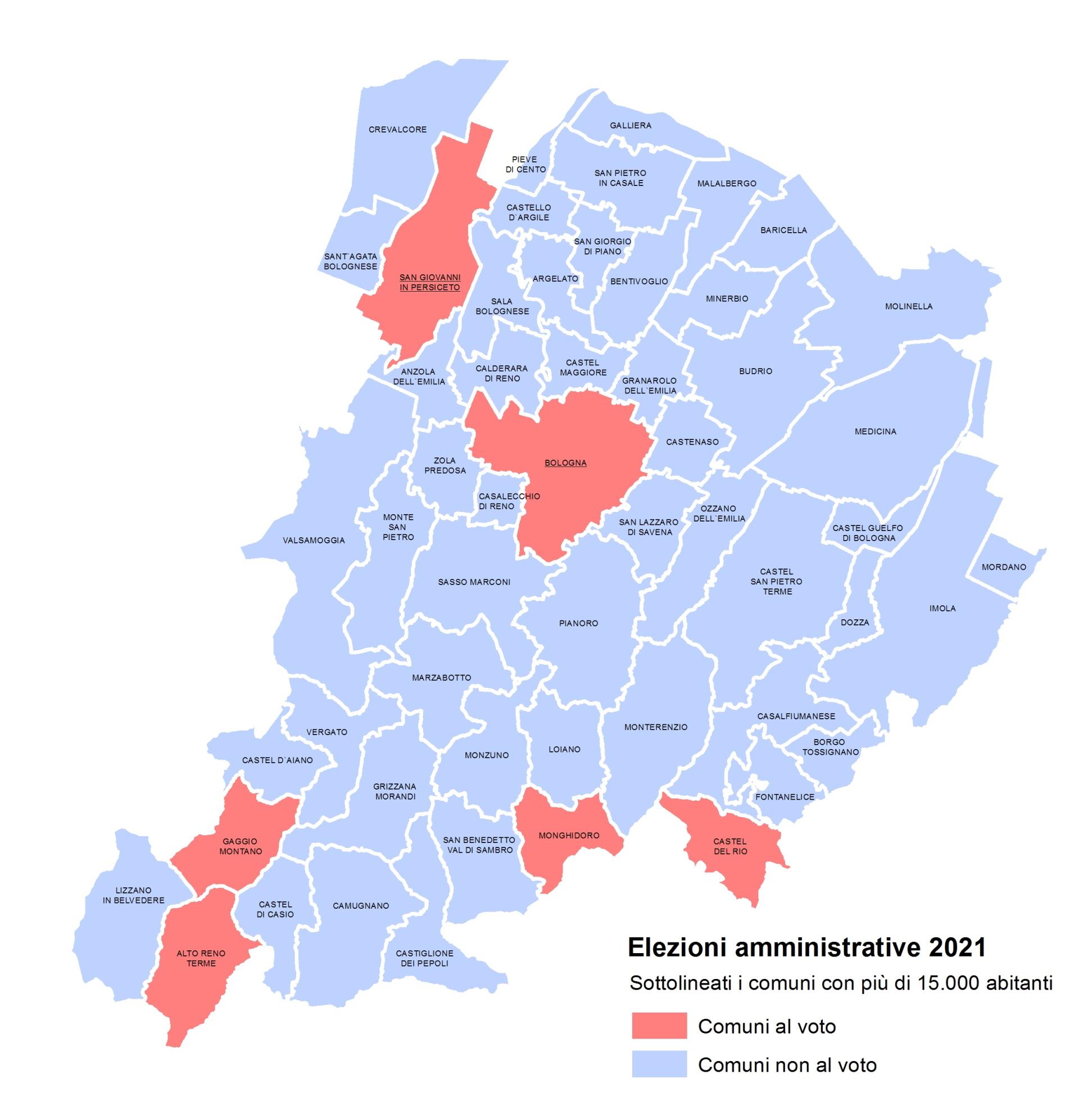 I Comuni al voto - Elezioni amministrative 2021