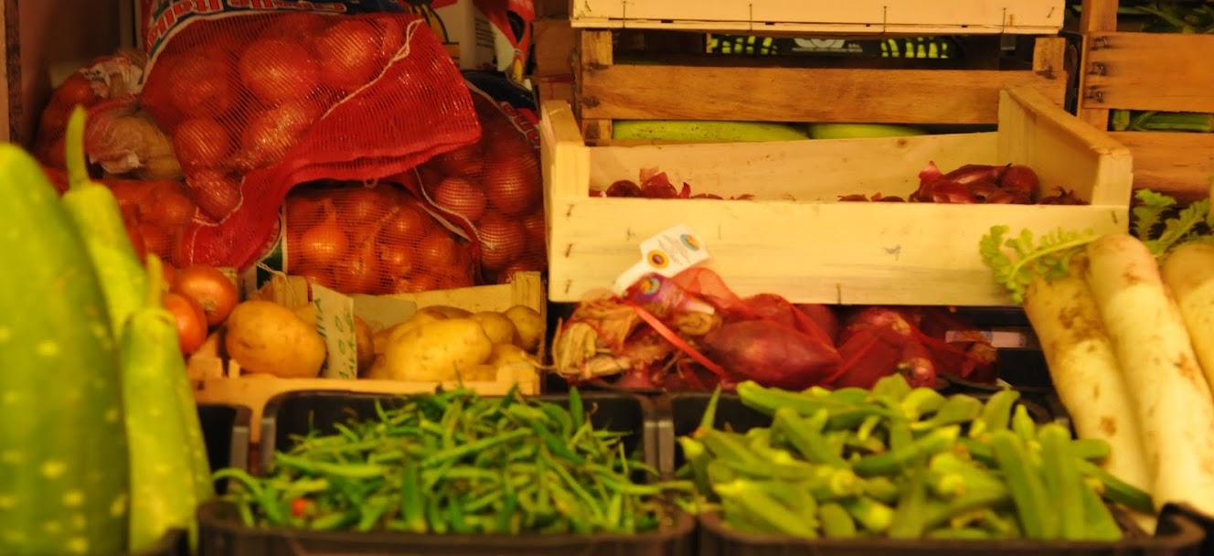 bancarella di frutta e verdura