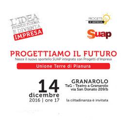 14 dicembre | Inaugurazione a Granarolo del nuovo sportello integrato SUAP – Progetti d'impresa dell'Unione Terre di Pianura