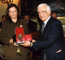 Maria Giovanna Caccialupi Ancona e il presidente Vittorio Prodi