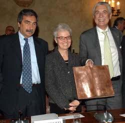 Da sinistra Marino Bartoletti, Beatrice Draghetti, Gabriele Del Torchio