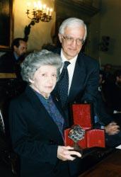 Norma Mascellani e il presidente Vittorio Prodi