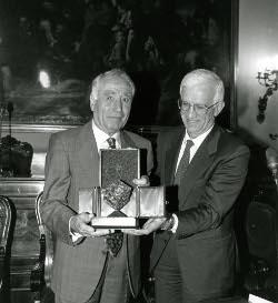 William Michelini e il presidente Vittorio Prodi