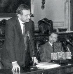 Ernesto Caffo e il presidente Lamberto Cotti