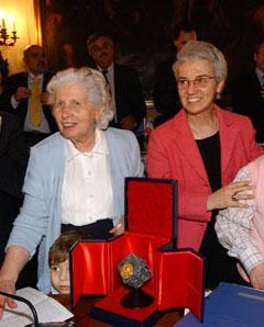 Aldina Balboni e la presidente Beatrice Draghetti