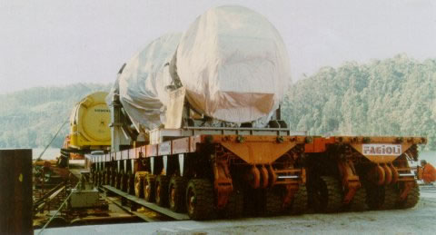 trasporto macchinario