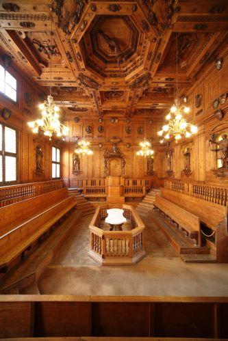Bologna - Archiginnasio, Teatro Anatomico - foto di Paolo Barone
