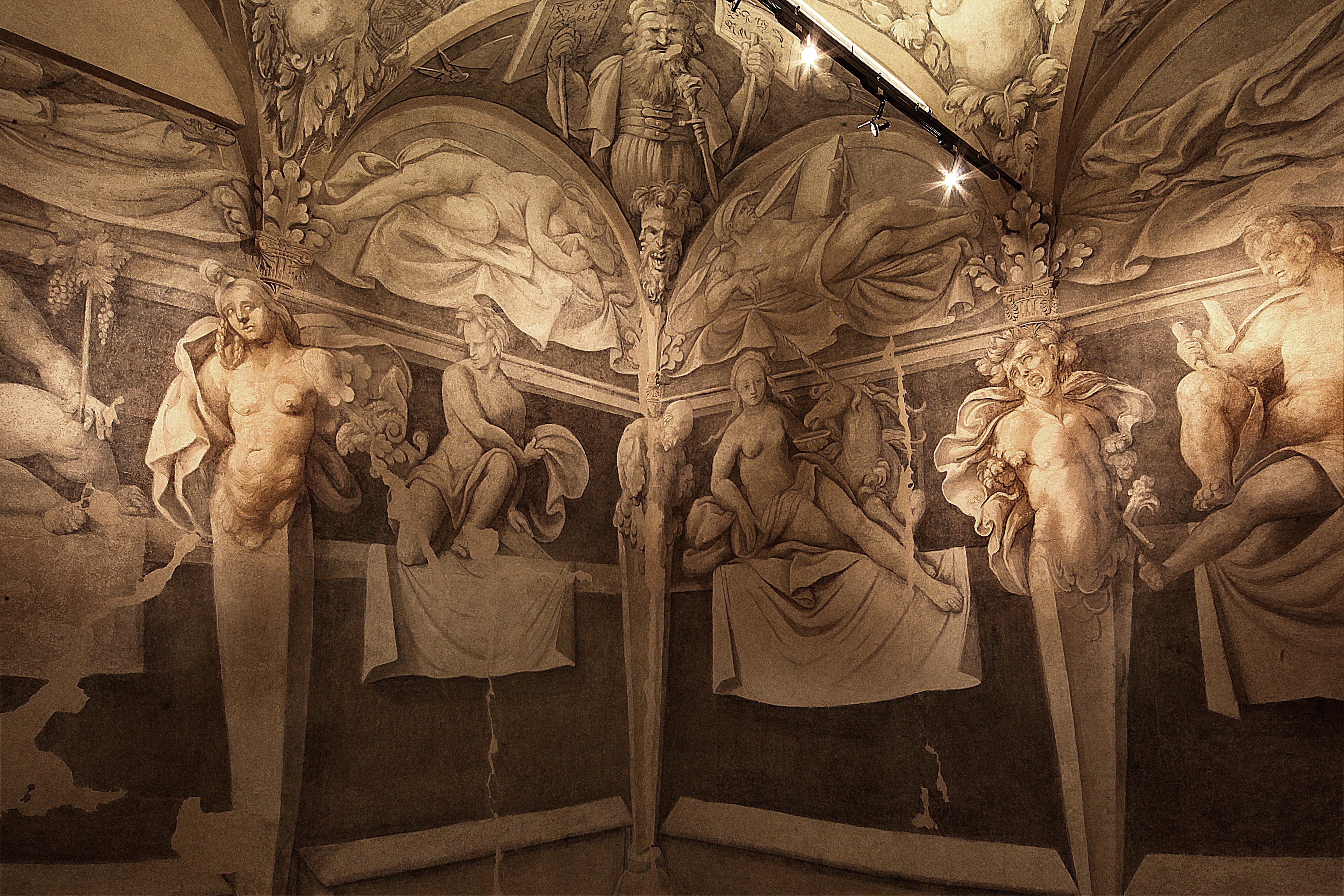 Minerbio - Rocca Isolani, affreschi di Amico Aspertini - foto di Paolo Barone