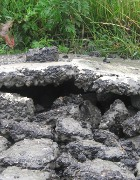 I danni del terremoto sulla Sp 13 Coronella-Ponte Panfilia