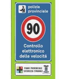 Cartello di controllo elettronico della velocità